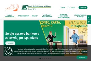 Bank Spółdzielczy w Miliczu - Kredyt hipoteczny Milicz