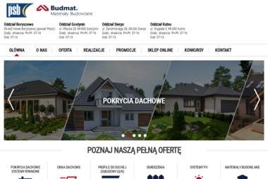 BUDMAT - Materiały budowlane - Blachy Dachowe Kutno