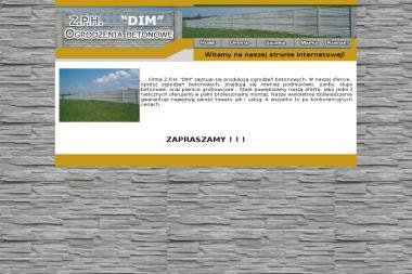 """Produkcja i sprzedaż ogrodzeń betonowych  Z.P.H. """"DIM"""" - Skład budowlany Białopole"""
