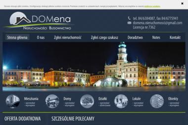 DOMena Nieruchmości Budownictwo - Agencja nieruchomości Zamość