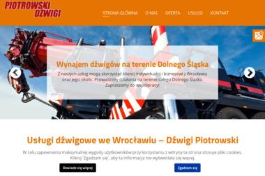 Usługi Dźwigowo Transportowe Piotrowski Ryszard - Maszyny budowlane Kąty Wrocławskie