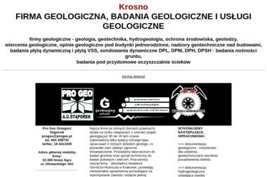 Pro Geo - Badanie Geotechniczne Nowy Sącz