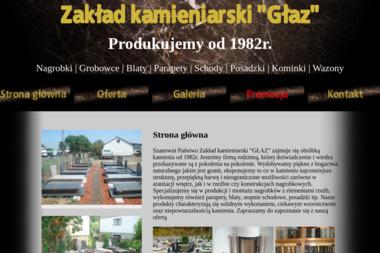 """Zakład Kamieniarski """"GŁAZ"""" - Płyta Nagrobna Łobez"""