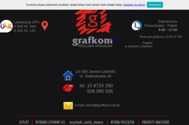GRAFKOM - Strony internetowe Janów Lubelski