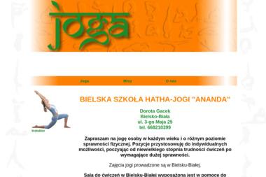 """Bielska Szkoła Hatha-Jogi """"ANANDA"""" - Joga Bielsko-Biała"""