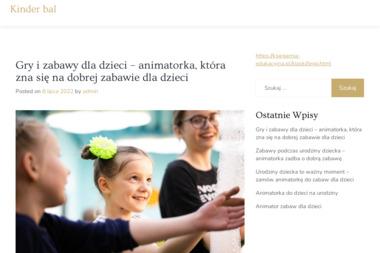 Atrakcje dla dzieci Białystok - Animator Anna Zatorska - Agencje Eventowe Białystok