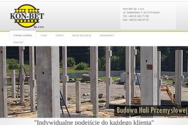 """Konińska Wytwórnia Prefabrykatów """"KON-BET"""" sp. z o.o. - Beton Konin"""