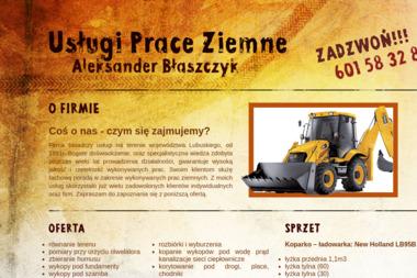 USŁUGI PRACE ZIEMNE Błaszczyk Aleksander - Roboty Ziemne Zielona Góra