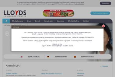 LLOYDS LANGUAGE CENTER - Język Angielski Radom