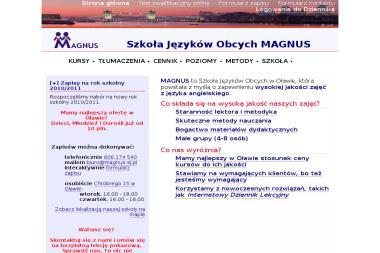 MAGNUS - Szkoła Języków Obcych - Kurs niemieckiego Oława