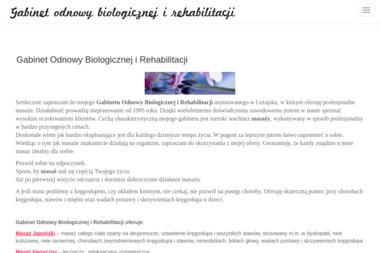 Gabinet Odnowy Biologicznej i Rehabilitacji - Salon Masażu Leżajsk