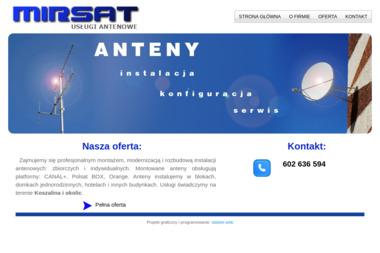 MIRSAT - Montaż Anteny Satelitarnej Koszalin