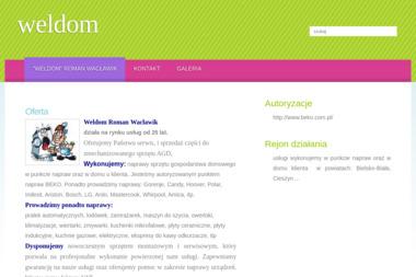 WELDOM - Naprawa drobnego sprzętu AGD Skoczów