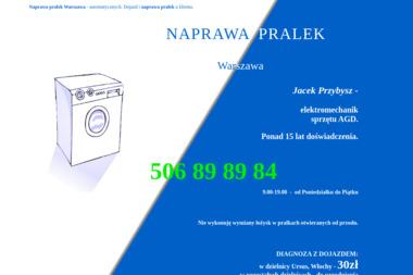 Jacek Przybysz -   elektromechanik sprzętu AGD - Naprawa pralek Warszawa