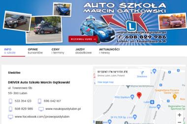 Auto Szkoła Marcin Gątkowski - Szkoła Jazdy Lubin