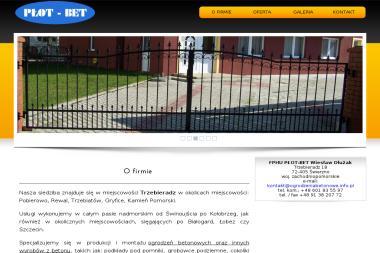 FPHU PŁOT-BET - Ogrodzenia betonowe Świerzno