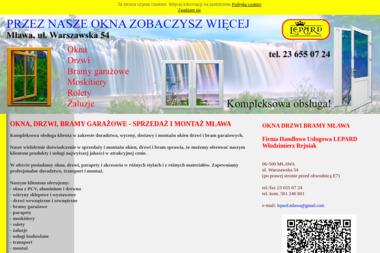 Firma Handlowo Usługowa LEPARD Włodzimierz Rejniak - Okna PCV Mława