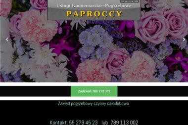 Usługi kamieniarsko-pogrzebowe PAPROCCY - Nagrobki Kwidzyn