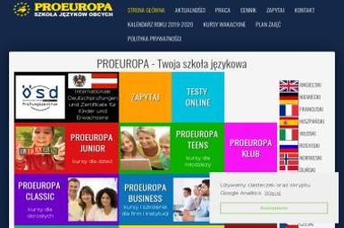 ProEuropa - Szkoła językowa Łódź