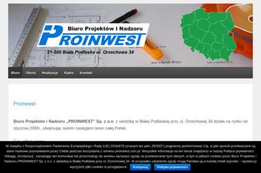 """""""PROINWEST"""" Sp. z o.o. - Projektant Domów Biała Podlaska"""