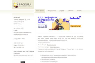"""""""PROKURA"""" Agencja Usługowa Sp. z o.o. - Ubezpieczenia na życie Radom"""