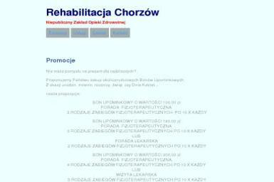 """Niepubliczny Zakład Opieki Zdrowotnej """"Rehabilitacja"""" s. c. - Rehabilitant Chorzów"""