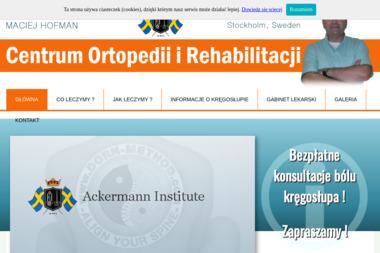 CENTRUM ORTOPEDII I REHABILITACJI - Masa偶 Kalisz