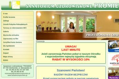 "Sanatorium Uzdrowiskowe ""PROMIEŃ"" - Sanatoria, uzdrowiska Ciechocinek"