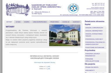 Zakład Pielęgancyjno-Opiekuńczy w Sejnach - Psycholog Sejny