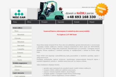 WÓZ-CAR - Wynajem wózków widłowych Toruń