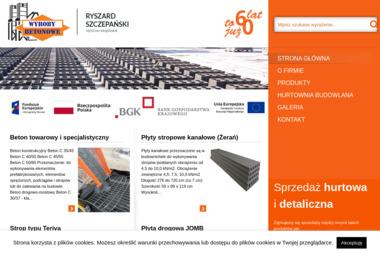 Wyroby Betonowe - Ryszard Szczepański - Płyty drogowe Sępólno Krajeńskie