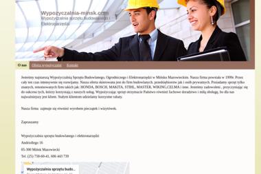 Wypożyczalnia Sprzętu Budowlanego i Elektronarzędzi - Maszyny budowlane Mińsk Mazowiecki