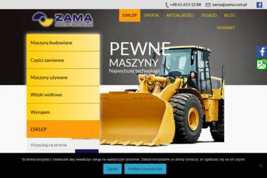 Zama Sp. z o.o. - Długoterminowy wynajem maszyn budowlanych Poznań