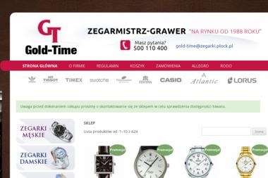 Sklep Zegarki Świata Gold-Time - Zegarmistrzowstwo Płock