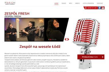 Zespół weselny Fresh. Zespół muzyczny, kapela weselna - Zespół muzyczny Łódź