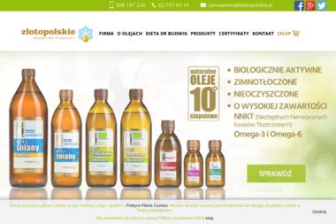 Złotopolskie - oleje lniane - Dietetyk Kalisz