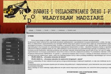 Władysław Madziarz Wydobywanie i Uszlachetnianie Żwiru i Piasku - Skład Budowlany Radostów Średni