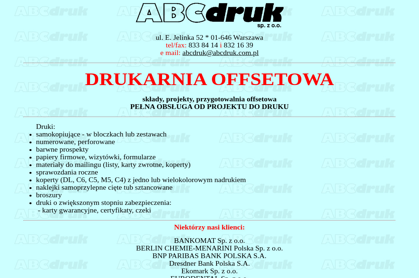 ABC Druk Sp. z o.o. - Zaproszenia Komunijne Warszawa