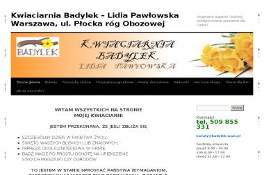 Kwiaciarnia Badylek Lidia Pawłowska. Kwiaty, bukiet, florystyka - Wystrój Sali Weselnej Warszawa