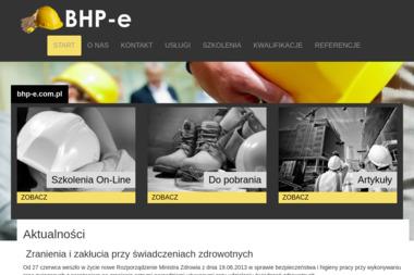 BHP-e. Szkolenia bhp - E-learning Wodzisław Śląski