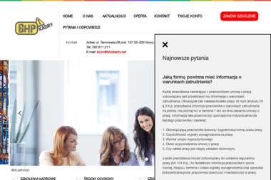 Biuro Usługowo – Szkoleniowe BHP I KADRY - Szkolenia BHP Pracowników Nowy Sącz