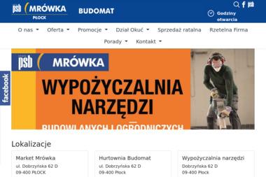 Grupa PSB - PSB Budomat. Materiały budowlane, artykuły wyposażenia wnętrz - Materiały Budowlane Płock