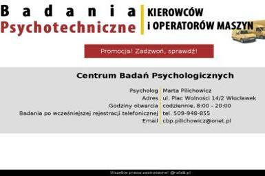Centrum Badań Psychologicznych - Psycholog Włocławek