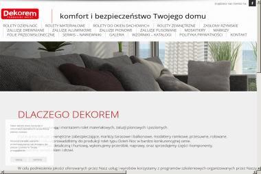 PUH Dekorem. Mieczysław Antonowicz - Szycie Firan na Wymiar Legnica