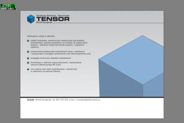 Tensor. Doradztwo Techniczno-Ekonomiczne Michał Szczęśniak - Nadzór budowlany Będzin