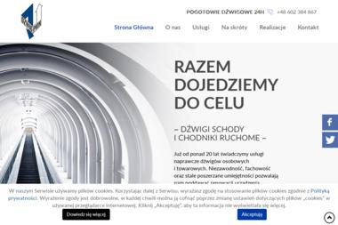 Dźwig-Pion S.C. Dźwigi towarowe i osobowe - Schody Metalowo-drewniane Warszawa