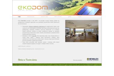 Eko-Dom. Kolektory, okna - Kolektory słoneczne Toruń