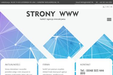 Hainet. Budowa stron internetowych, pozycjonowanie stron internetowych - Graficy Poznań