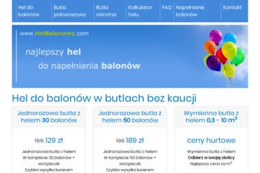 Hel do balonów, balony z helem, helbalonowy.com - Dekorowanie Sal Weselnych Gdańsk