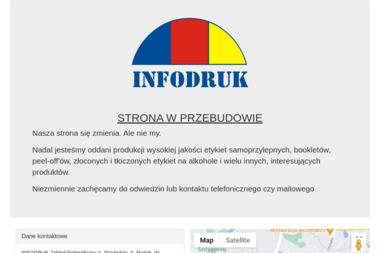 Zakład Poligraficzny Infodruk S.J. Kody kreskowe, booklety, etykiety - Drukarnie etykiet Poznań